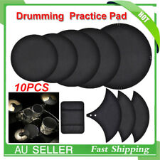 10x Drum/cymbal Mutes Silencer Cotton Foam Drumming Practice Pads Protector AU