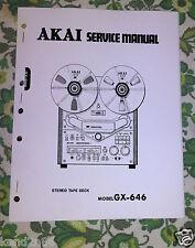 AKAI GX-646 gx646 SCHEMATICS / REPAIR - SERVICE  Manual only