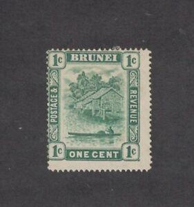 Brunei 13 - One Cent Single. Mint Hinged.     #02 BRUN13
