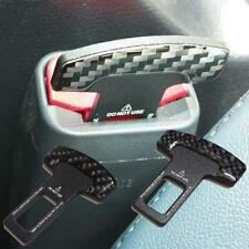 2Pcs Auto Universal Car Safety Seat Belt Buckle Clip Insert Alarm Stopper