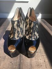Christian Louboutin Areonotoc 35 Lace Boots Booties 160mm