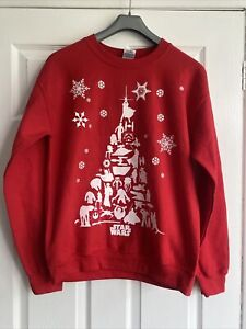 Disney Star Wars Red Christmas Sweater Jumper Size S BNWT RRP £25