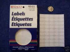 """2 Boxes MS-812 Removable Labels Price Stickers 1/2"""" x 3/4"""""""
