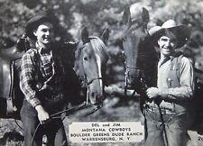 VINTAGE POSTCARD MONTANA COWBOYS AT BOULDER GREENS DUDE RANCH WARRENSBURG, N.Y