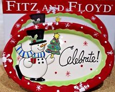 """Fitz and Floyd """"Celebrate"""" Sentiment Tray 2011 In Box"""