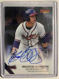2015 Bowmans Best Braxton Davidson Auto Atlanta Braves #B15-BD