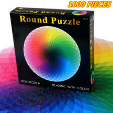 Jigsaw Puzzle 1000 Pieces Colorful Rainbow Round Educational Adult Children Toy