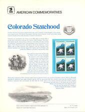 #77 13c Colorado Statehood #1711 USPS Commemorative Stamp Panel