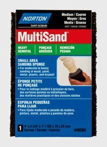 Norton MultiSand Dual Angle SANDING SPONGE Heavy Removal Medium 07660749503 NEW!