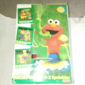 Vintage 1997 TYCO Sesame Street Elmo's 1-2-3 Sprinkler Rare New With Box Wear