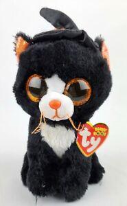"Ty Beanie Boos Witchie the Halloween Black Cat 6"" Tysilk Halloween Decor"