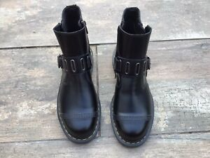 DM Dr Martin Doctor Martin Chelsea Boots Style With Zips And Buckle Size UK 8