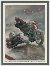 Hans Liska Motorrad Seitenwagen Karl Braun Badsching Auto Union Bremgarten 1937