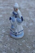 Lovely Vintage Porcelain Delft Blue Figurine Statuette Handpainted