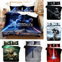 3D Star Wars Design Duvet Cover 3PCS Bedding Set Pillowcase Quilt Cover Set
