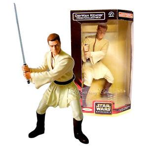 """NEW Star Wars The Phantom Menace 13"""" OBI-WAN KENOBI+ Lightsaber Action Figure"""