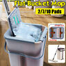 360 Rotating Flat Mop Bucket Pad Cleaning Squeeze Free Hand Washing Microfiber