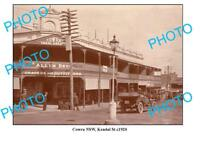 OLD LARGE PHOTO COWRA NSW SOUTH WALES KENDAL STREET c1920
