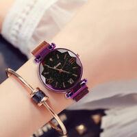 Luxury Starry Sky masonry Watch Waterproof Magnet Strap Buckle Stainless Watch K