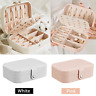 Portable Travel Jewelry Box Organizer Flanne Earring Ring Display Ornaments Case