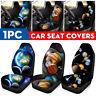 Car Front Seat Cover Protector Galaxy Planet Print Sedan SUV Van Truck Universal