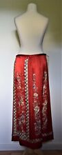 Antique 19th Chinese silk hand embroidered long skirt, Qing Ching dynasty SALE
