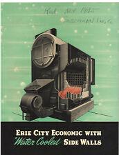 VINTAGE 1941 ERIE CITY BOILER ECONOMIC BOILER CATALOG/BROCHURE! PICTURES/SPECS!