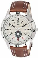 Leather Band Multi Color Dial Men's Quartz Watch Timex Analog Fashion