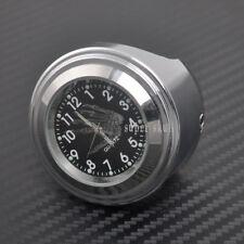 """7/8"""" Motorcycle Chrome waterproof Black Dial Handlebar Clock Glow Watch Generic"""