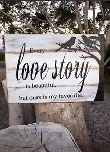 Bali- Balinese Timber Sign - Love Sign 40 Cm x 30 Cm
