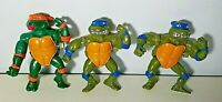 Vintage TMNT Wind Up Figures From Playmates Lot Of 3 1989
