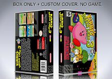 KIRBY'S DREAM LAND 3. NTSC. Box/Case. Super Nintendo. BOX + COVER. (NO GAME)