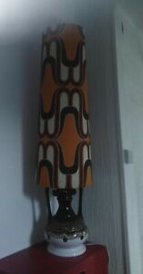 Vintage West German 70s Fat Lava Floor Lamp With Original Lampshade Tall