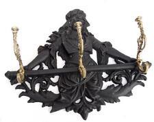 Joli PORTE-MANTEAU en Fonte et Bronze Décor Femme
