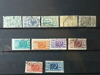 Italy - 1927 & 1945-52 - parcel post  - 11 stamps  - Used