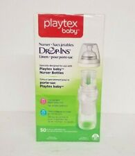 Playtex Baby Drop-Ins Pre-Sterilized Disposable 8-10 Ounce Liners, 50 Sealed