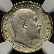 More details for 1910 edward vii silver threepence, scarce, ngc au 58
