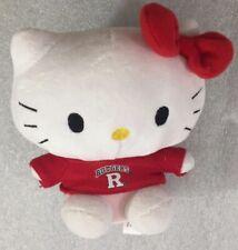 "Hello Kitty RUTGERS University 6"" stuffed plush Sanrio...Plushland"