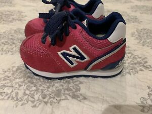 New Balance Pink/Blue Suede Toddler/Infant Shoes Size 3 EUC