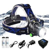 Super Bright LED Headlamp Zoomable 3 Lighting Modes Camping Hunting Fishing Lamp
