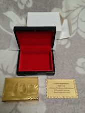 Playing Cards (Gold) Includes Certificate - Ideal Gift Mint Never Used