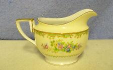 Noritake M  1930s  Japan Gold Green Cream White CREAMER