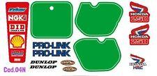 Kit Grafiche Honda Cr 250cc cross 1985 adesivi  porta numero stikers