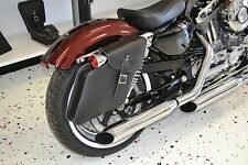 Harley SPORTSTER RIGHT Side BLACK SOLO BAG Saddlebag - SR05 BAD&G CustomS