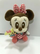 "DISNEY Minnie Mouse Baby Plush doll Keychain 4"" (11 cm)"