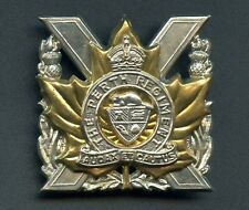 WW2 Canada Perth Regiment Cap Badge (Scully Montreal) 50 mm x 50 mm