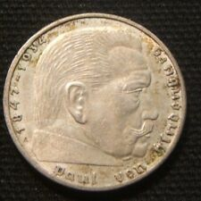 1938-A~~GERMANY (NAZI)~~2 MARK SWASTIKA~~AU~~RARE~SILVER