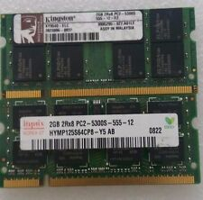 4GB = 2X 2GB  PC2-5300S DDR2-667 16CHIPS 200PIN FOR DELL HP LAPTOP NOTEBOOK  RAM