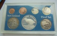Proof Set, 1982 New Zealand, 7 Coins, Dollar (Silver), Excellent Condition.