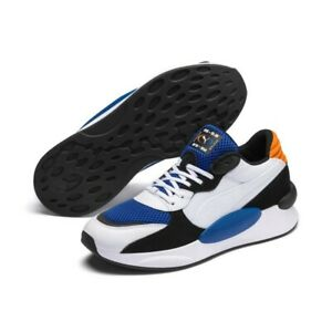 PUMA RS-9.8 Cosmic White Blue Orange Trainers for Men Footwear Casual NEW RRP£75